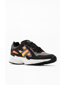 Adidas Black & Red Yung 96 Chasm Shoes by Pacsun