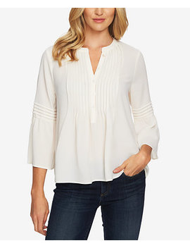 Ruffled Pintuck Blouse by General