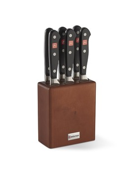 Wüsthof Classic Steakhouse Steak Knives In Block, Set Of 6 by Williams   Sonoma