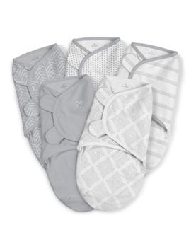 Swaddle Me® 5 Pack Original Swaddles In Grey by Swaddle Me