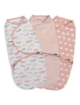 Swaddle Me® Original Swaddle Small/Medium 3 Pack Feathers In Coral by Swaddle Me
