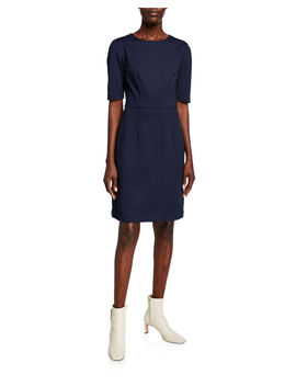 Aroma Elbow Sleeve Ponte Dress by Trina Turk