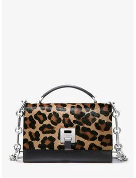Bancroft Leopard Calf Hair Shoulder Bag by Michael Kors Collection