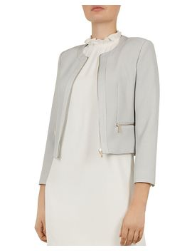 Working Title Reemad Cropped Textured Jacket by Working Title By Ted Baker