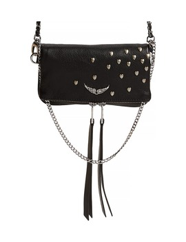 Rock Nano Heart Stud Leather Crossbody Bag by Zadig & Voltaire