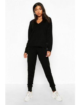 Tall Knitted Hoody & Joggers Tracksuit by Boohoo