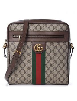 Gucci Gg Supreme Monogram Web Medium Ophidia Messenger Bag Brown by Gucci