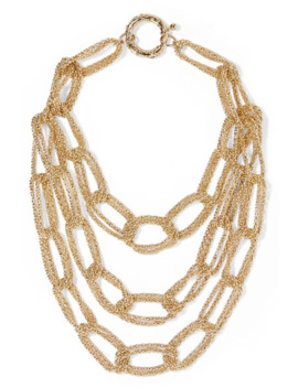 Onore Gold Tone Necklace by Rosantica