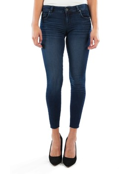 Connie High Waist Raw Hem Ankle Skinny Jeans by Kut From The Kloth