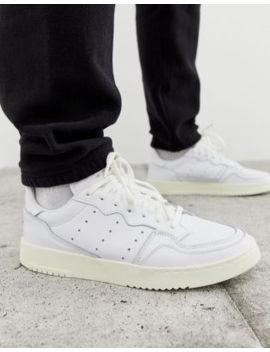 Adidas Originals Super Court Trainers In White X Home Of Classics Edition by Adidas Originals