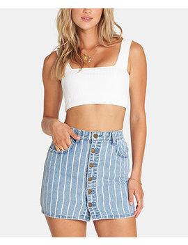 Juniors' Cotton Striped Denim Skirt by General