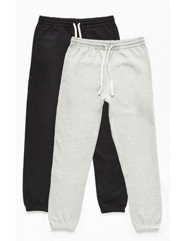 Pac Sun Two Pack Black & Gray Sweatpants by Pacsun