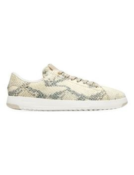 Grand Pro Snakeskin Embossed Leather Tennis Sneakers by Cole Haan