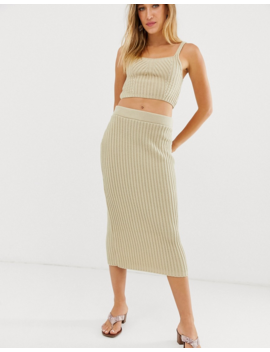 Asos Design Co Ord Rib Knit Bralet by Asos Design