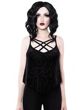 Thea Burnout [Black Velvet] | Vest* by Killstar