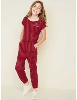 Jersey Knit Dolman Sleeve Jumpsuit For Girls by Old Navy