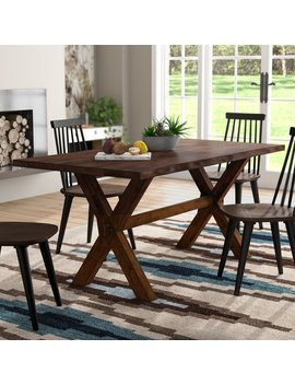 Tiggs Solid Wood Dining Table by Millwood Pines