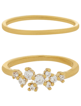 2x Sparkle Cluster Ring Set by Accessorize