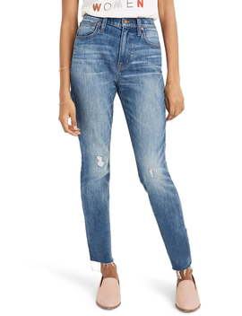The High Waist Crop Slim Boy Jeans (Dover) by Madewell