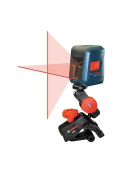 30 Ft. Self Leveling Cross Line Laser Level With Clamping Mount by Bosch