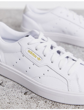 Adidas Originals   Sleek   Baskets   Blanc by Adidas