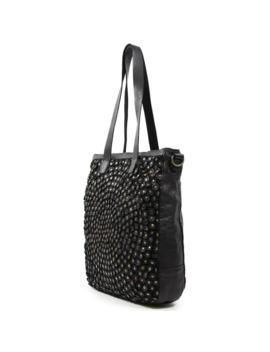 Old Trend Stellar Stud Genuine Leather Tote Bag by Old Trend
