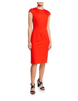 Diane Von Furstenberg Hadlie Cap Sleeve Sheath Dress by Diane Von Furstenberg
