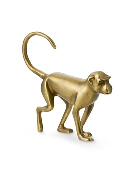 Brass Walking Monkey Sculpture by Williams   Sonoma