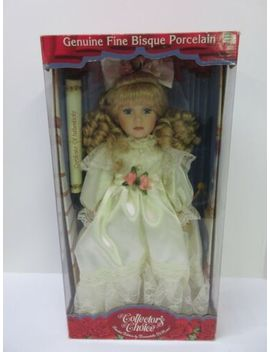 "Collectors Choice Fine Bisque Porcelain Doll Limited Edition 16"" New / Coa by Ebay Seller"