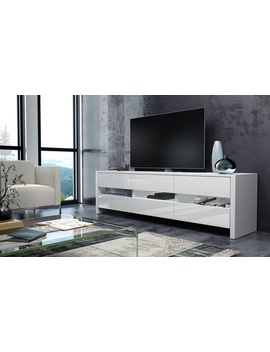 Skylight Tv Cabinet In Choice Of Colour With Optional Led Lighting by Groupon