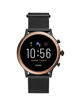 Gen 5 Smartwatch 44mm Stainless Steel   Black With Smoke Stainless Steel Band by Fossil