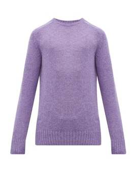 Ribbed Trim Virgin Wool Sweater by Prada