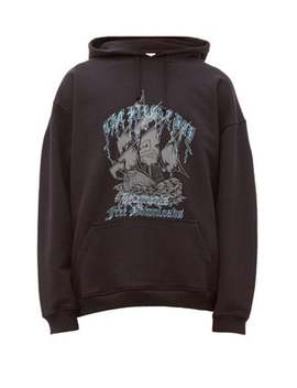 Pirates Cotton Blend Hooded Sweatshirt by Vetements