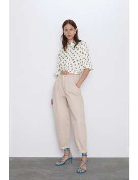 Polka Dot Shirt With Front Knot View All Shirts by Zara