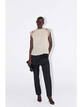 Combined Pleated Top View All Shirts by Zara