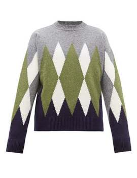 Argyle Wool Sweater by Ami