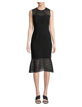 Paris Sleeveless Flared Hem Chiffon Dress by Elie Tahari