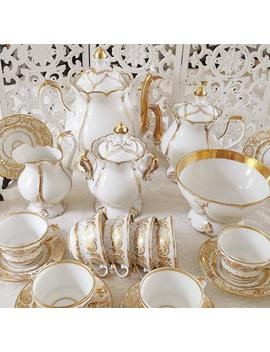 Old Paris Empire Tea Set Gold For 10 Persons by Etsy