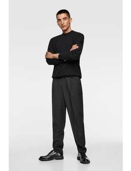 Basic Mock Neck Sweater  Basics Knitwear Man by Zara