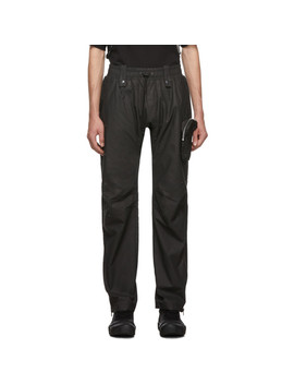 Black Drawstring Trousers by Blackmerle