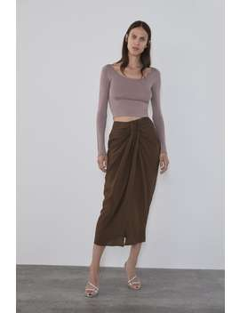 Gathered Front Skirt View All Knitwear Woman by Zara
