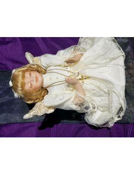 Kinnex Praying Angel Porcelain Doll W/ Cross Curly Blonde Hair by Ebay Seller