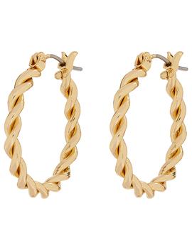 Small Twist Hoop Earrings by Accessorize