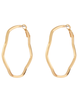 Squiggly Hoop Earrings by Accessorize