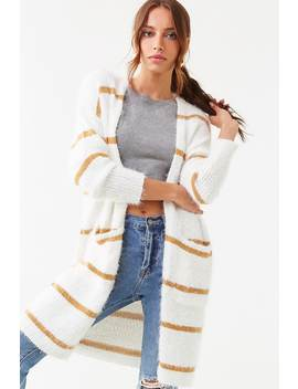 Striped Print Cardigan by Forever 21