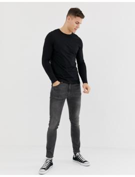 Asos Design Organic Long Sleeve T Shirt In Black by Asos Design