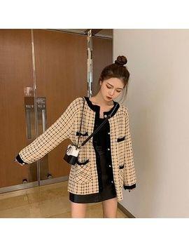 Kukaro   Plaid Button Jacket by Kukaro