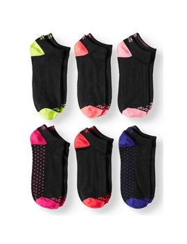Ladies Super Soft No Show Socks, 6 Pack by Avia