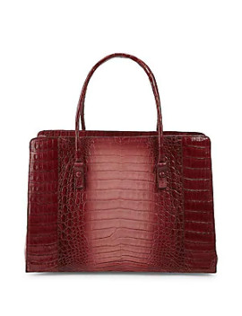 Textured Crocodile Tote by Nancy Gonzalez