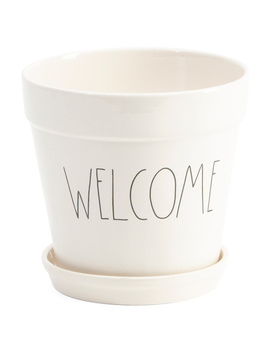 Welcome Ceramic Planter by Tj Maxx